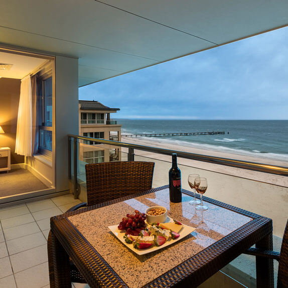 Enjoy the beach views from your private balcony