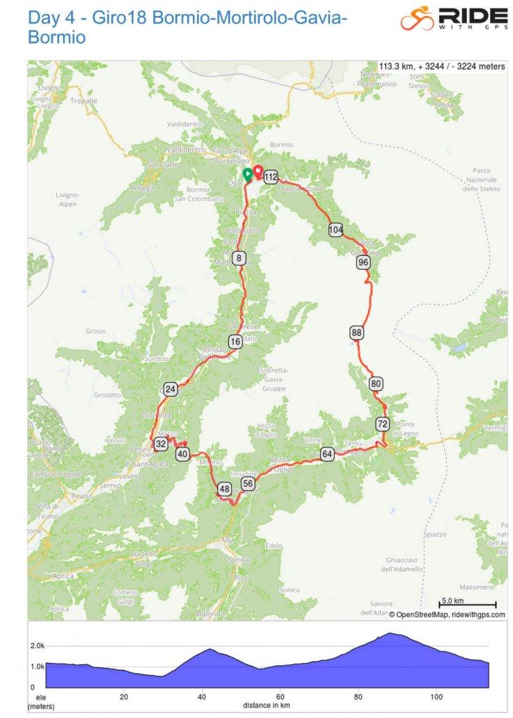 Day 4 Giro18 Bormio - Mortirolo - Gavia - Bormio