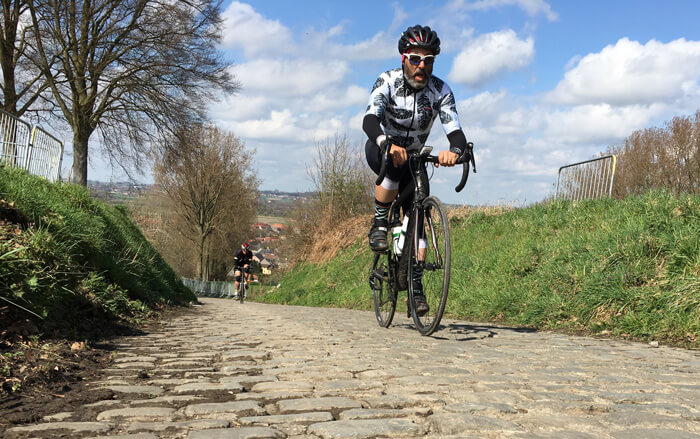 spring classics rider on cobble stones