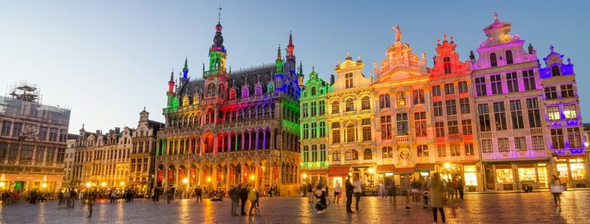 The colourful Grand Palace in Brussels, Belgium