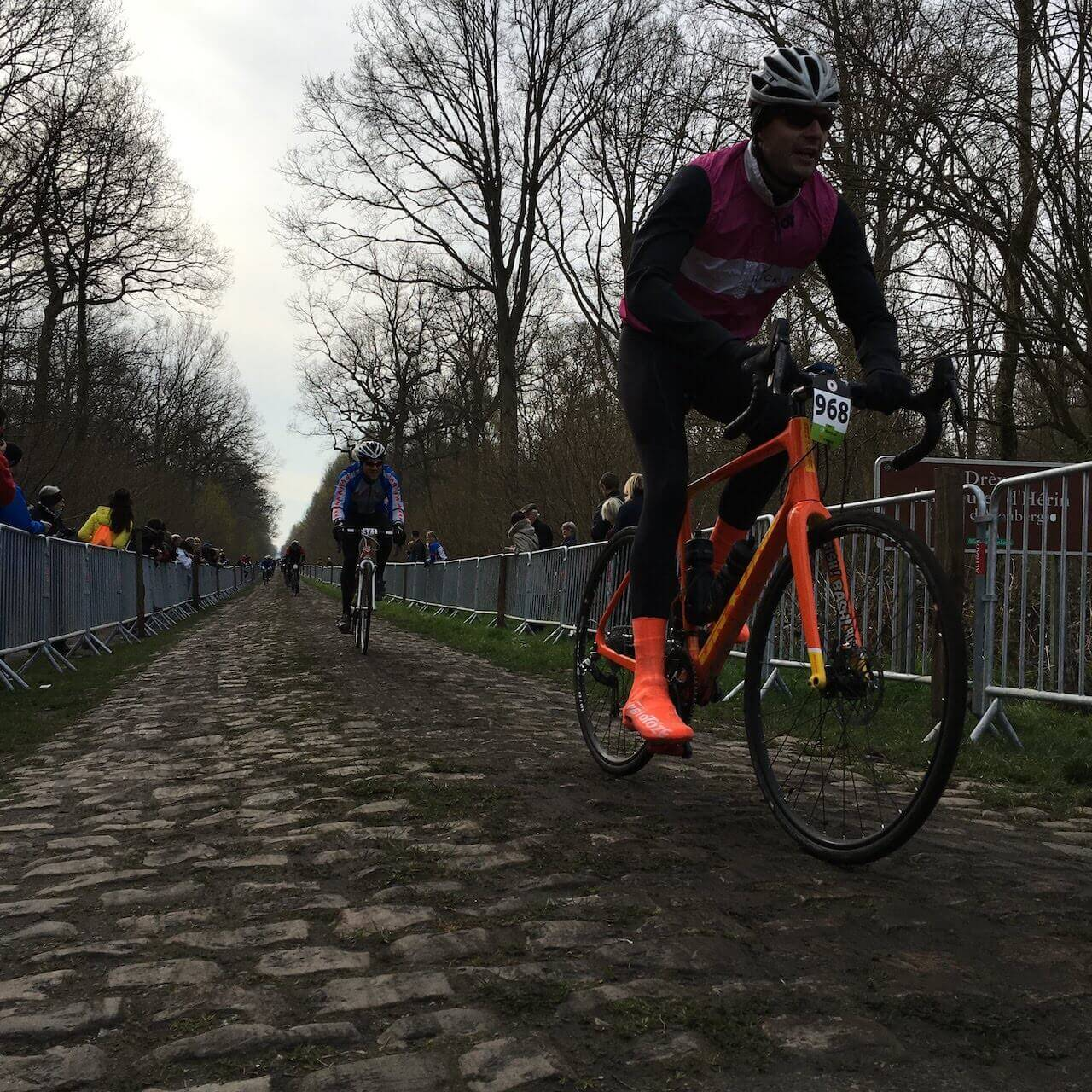 This afternoon we'll ride a course designed by Phil Anderson that takes in some nice smaller roads, laneways and sections of the Paris Roubaix Challenge and race route.