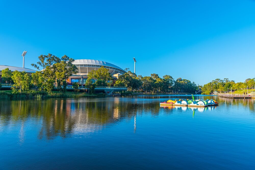 Adelaide Oval near the River Torrens
