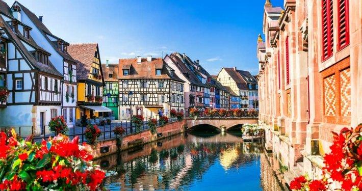 Canal in Colmar, France