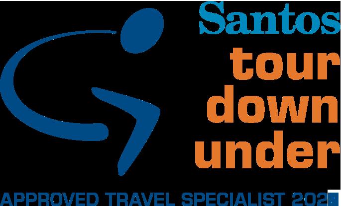 2022 SANTOS TOUR DOWN UNDER LOGO