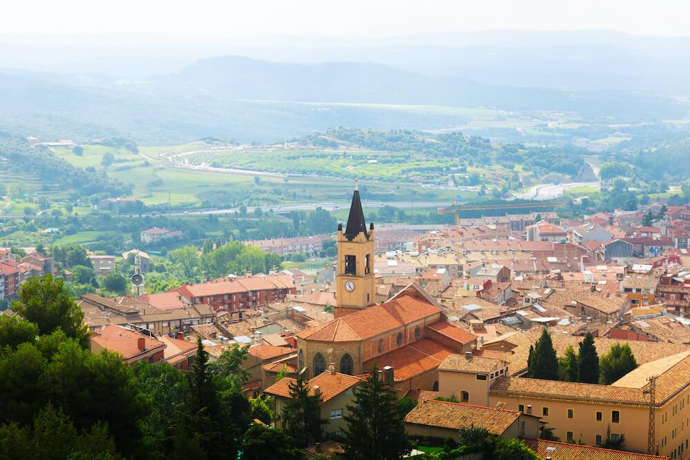View of Berga in Pyrenees